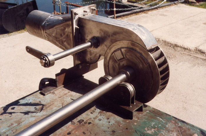 stainless steel open cross-flow turbine